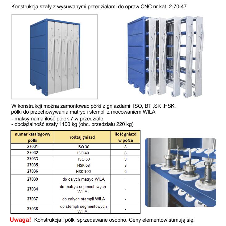 JOTKEL | 27047 | Szafa z wysuwanymi przedziałami do opraw narzędziowych CNC - konstrukcja
